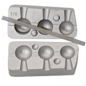 Калъп за олово Чебурашка за 3 олова топчета 30-40-50 грама N 0179