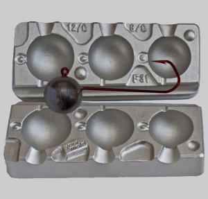 Калъп за олово за 3 кръгли Jig глави за туистери 120-150-180 грама N031