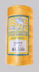 Капронов конец 210-12 500 грама Thailand 0.8 мм дебелина жълт