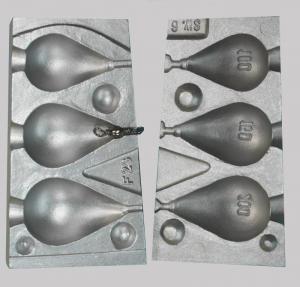 Калъп за олово за 3 капковидни олова на 100-150-200 грама N 0023