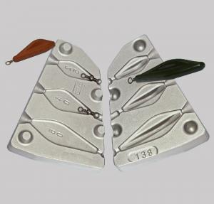 Калъп за олово речен плосък сребро 25-40-60 N 0138