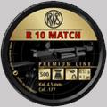 Сачми въздушно оръжие RWS R10 Match кал 4.5 мм 500 бр. 0.53 грама