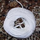 Въже Сукано от полиестерна коприна бяло диаметър 20 мм