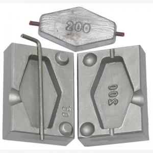 Калъп за олово за 1 шестоъгълно олово на 200 гр със шлаух F09999 закрит