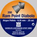 Air gun pellets H&N Ram Point Diabolo 6.35 mm 200 pcs