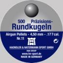 Air gun pellets H&N Rundkugeln N11 Copper 4.5 mm 500 pcs