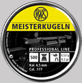 Air gun pellets RWS Meister 4.5 500 pcs