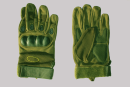 Gloves Tactical Protective with fingers green