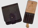 Leather accessory Leather cartridge-box for 5 carbine cartridges